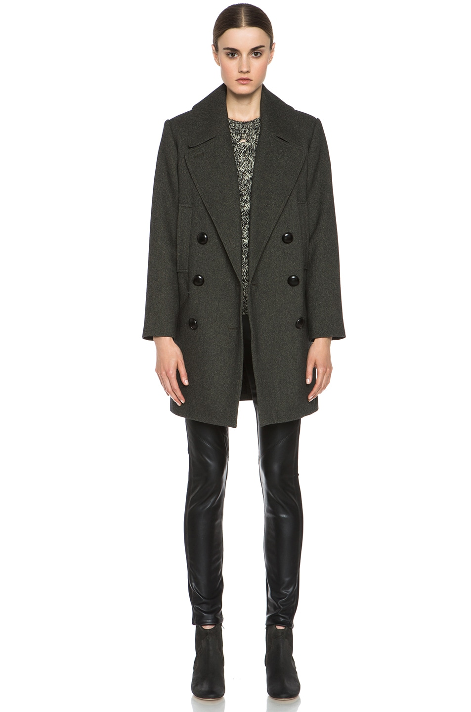 Image 1 of Isabel Marant Ziggy Coat in Anthracite