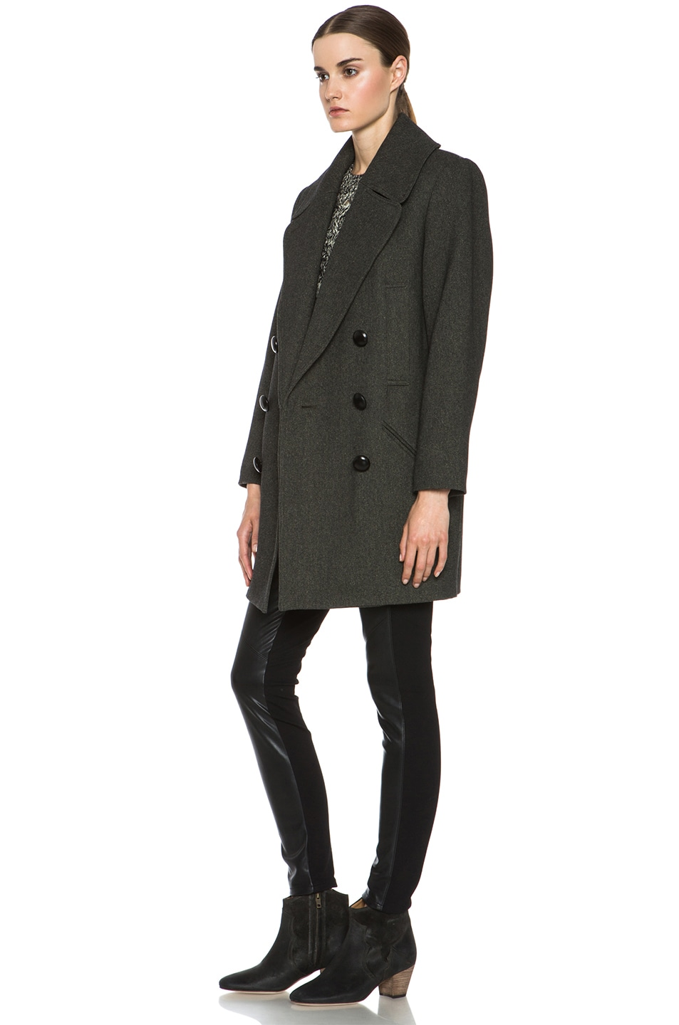 Image 3 of Isabel Marant Ziggy Coat in Anthracite