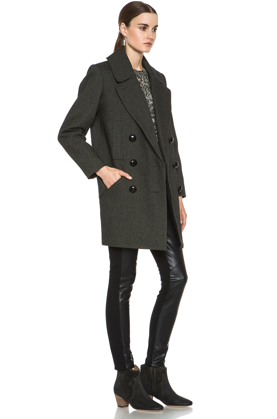 Image 4 of Isabel Marant Ziggy Coat in Anthracite