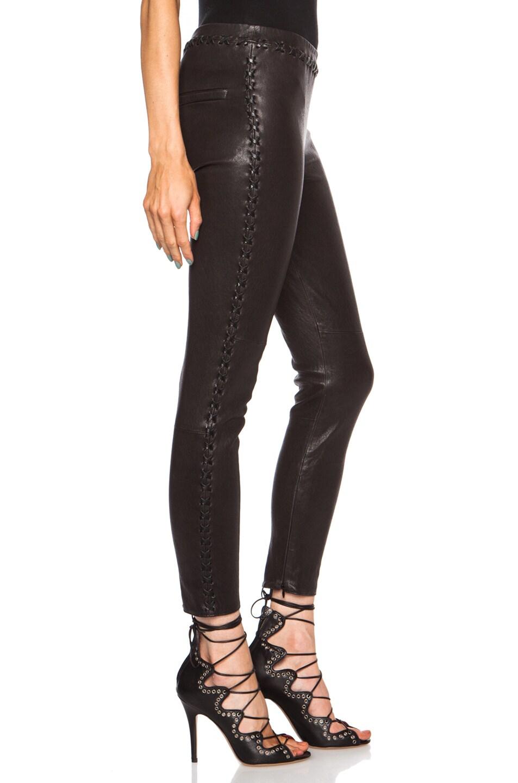 Image 3 of Isabel Marant Dayton Stretch Leather Pant in Black