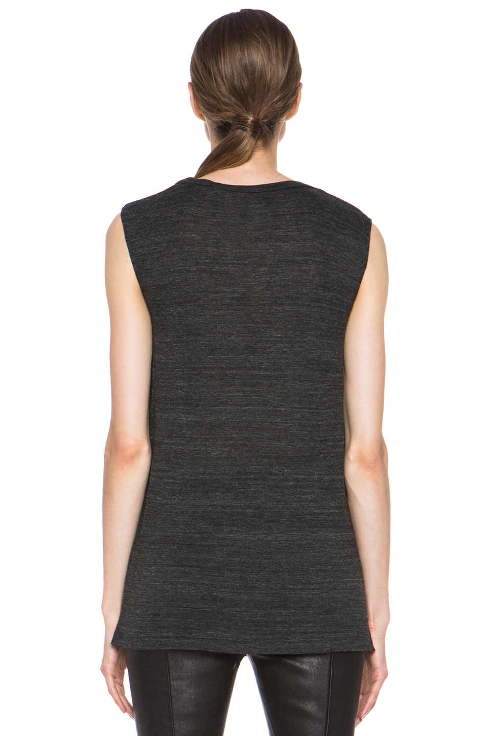 Image 4 of Isabel Marant Senna Viscose Tank in Anthracite