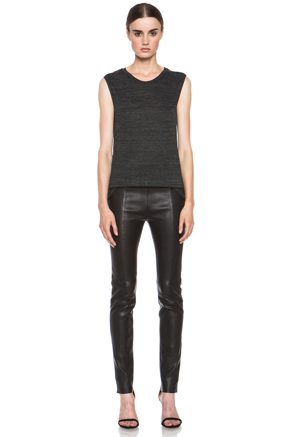 Image 5 of Isabel Marant Senna Viscose Tank in Anthracite