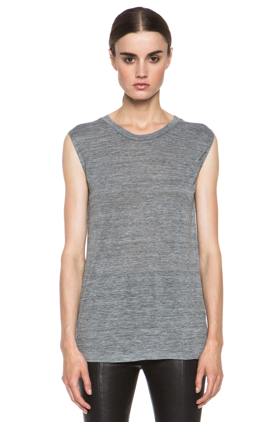 Image 1 of Isabel Marant Senna Viscose Tank in Grey