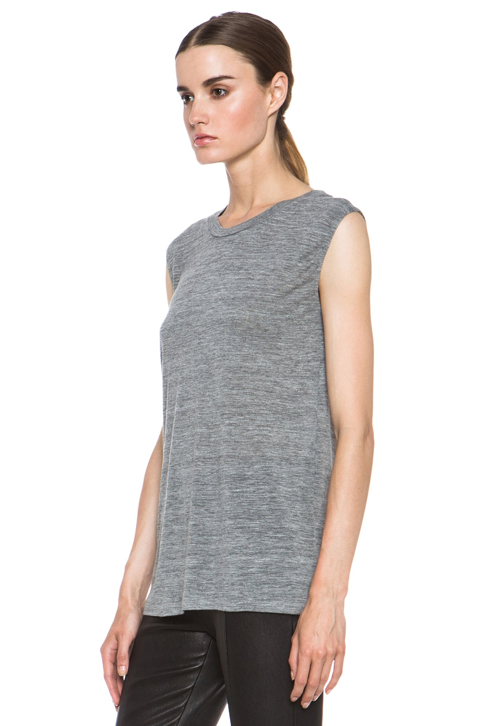 Image 2 of Isabel Marant Senna Viscose Tank in Grey