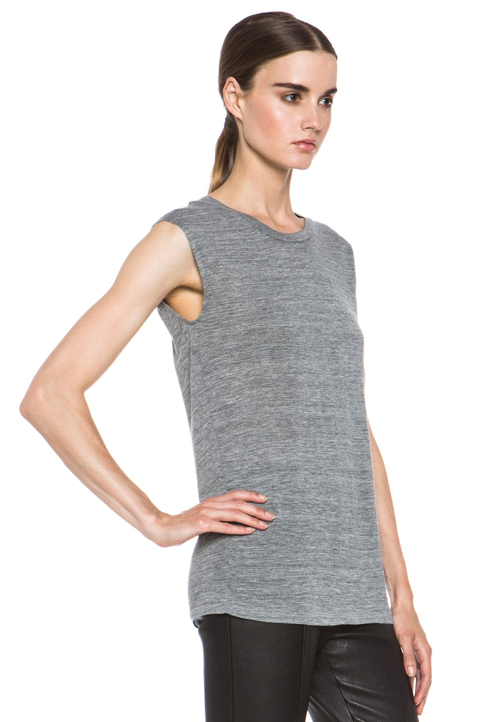 Image 3 of Isabel Marant Senna Viscose Tank in Grey