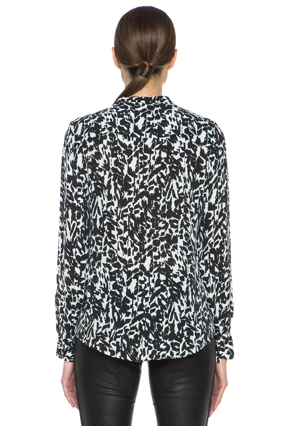 Image 4 of Isabel Marant Moriah Charmeuse Leopard Blouse in Black