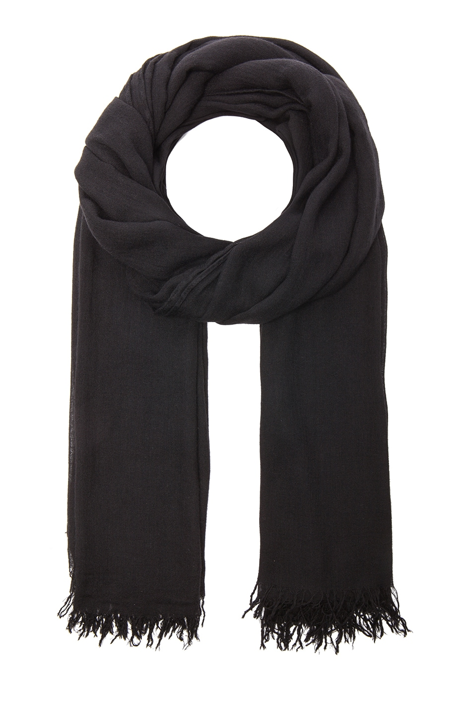 Image 1 of Isabel Marant Ghazo Viscose & Cashmere Scarf in Black