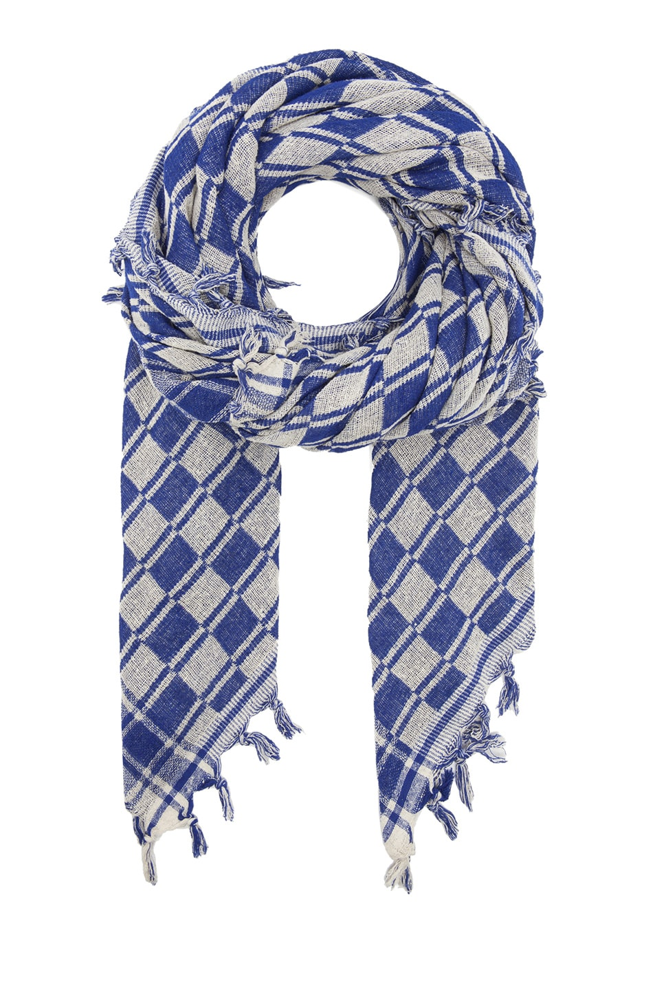 Image 1 of Isabel Marant Tasma Silk Scarf in Blue