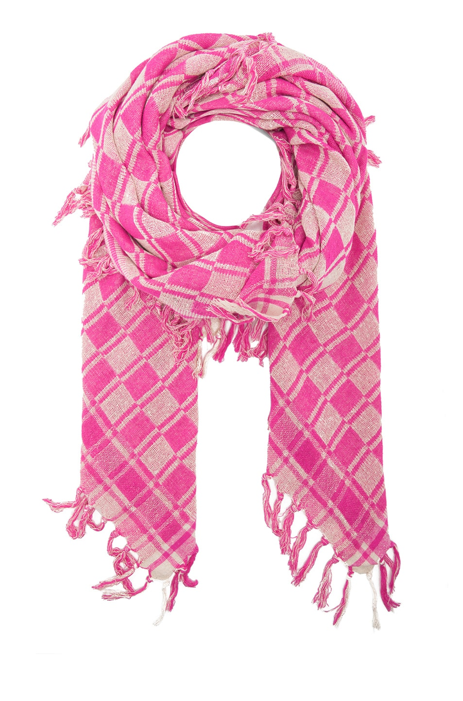 Image 1 of Isabel Marant Tasma Silk Scarf in Fuchsia