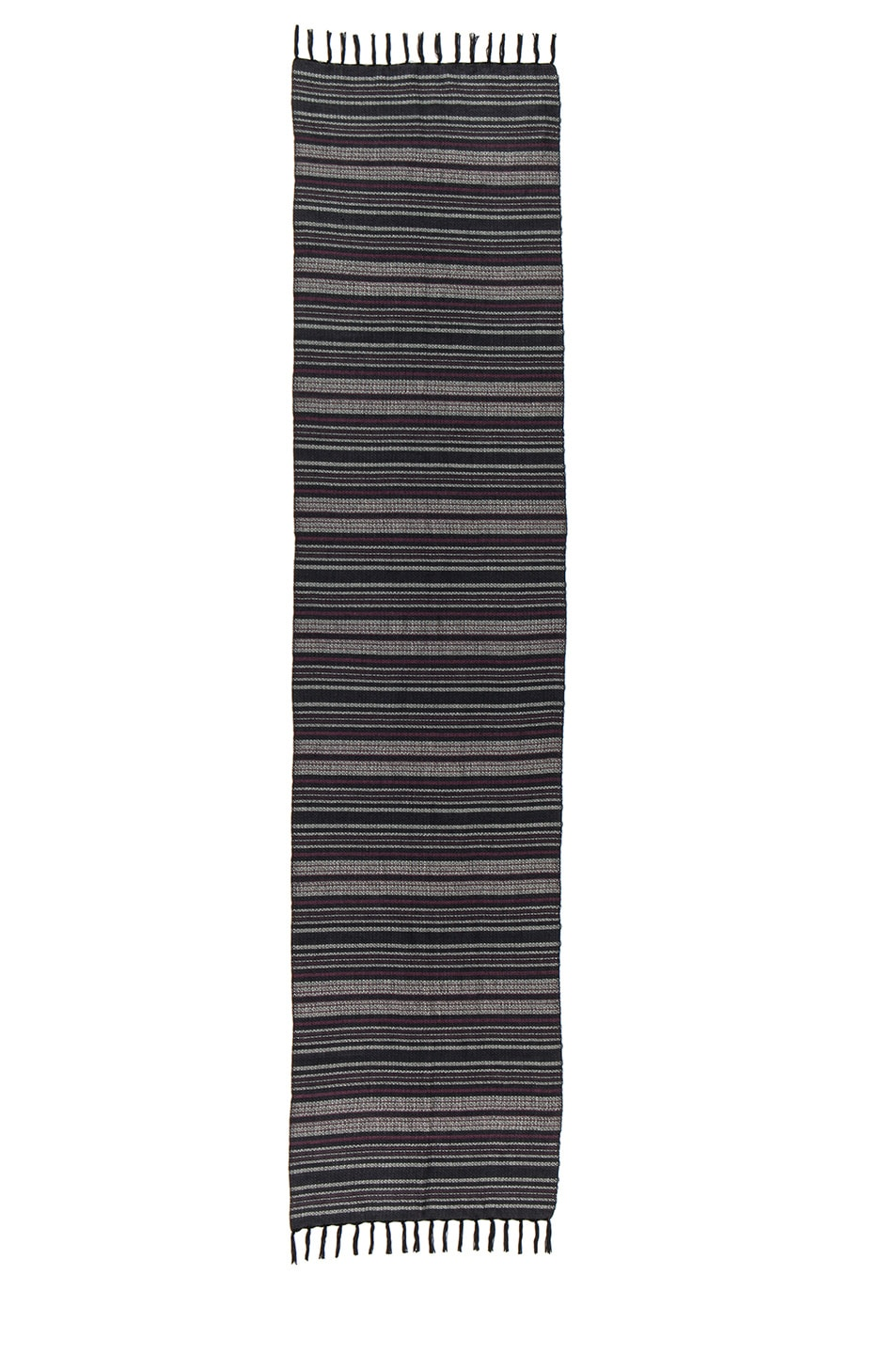 Image 2 of Isabel Marant Zina Striped Scarf in Anthracite