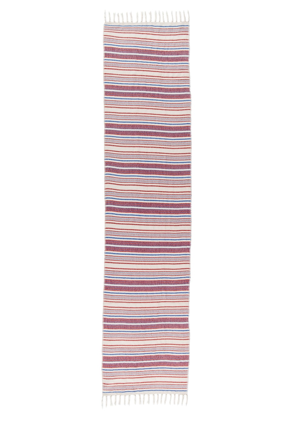 Image 2 of Isabel Marant Zina Striped Scarf in Rouge