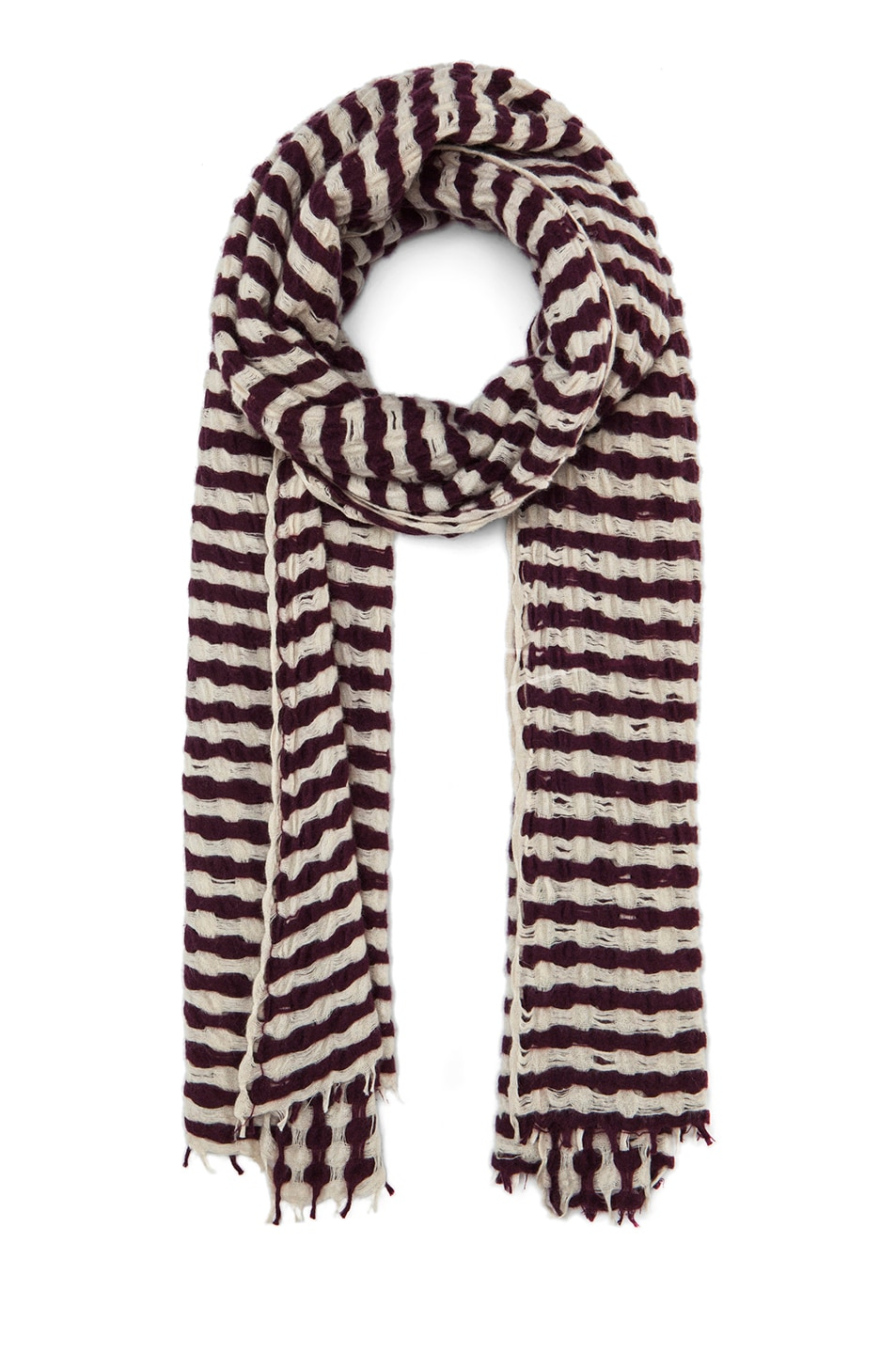 Image 1 of Isabel Marant Brunella Cashmere Scarf in Burgundy