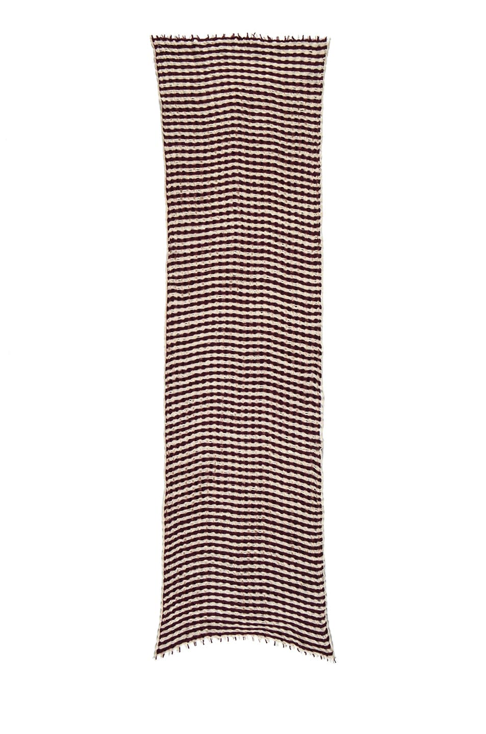 Image 2 of Isabel Marant Brunella Cashmere Scarf in Burgundy