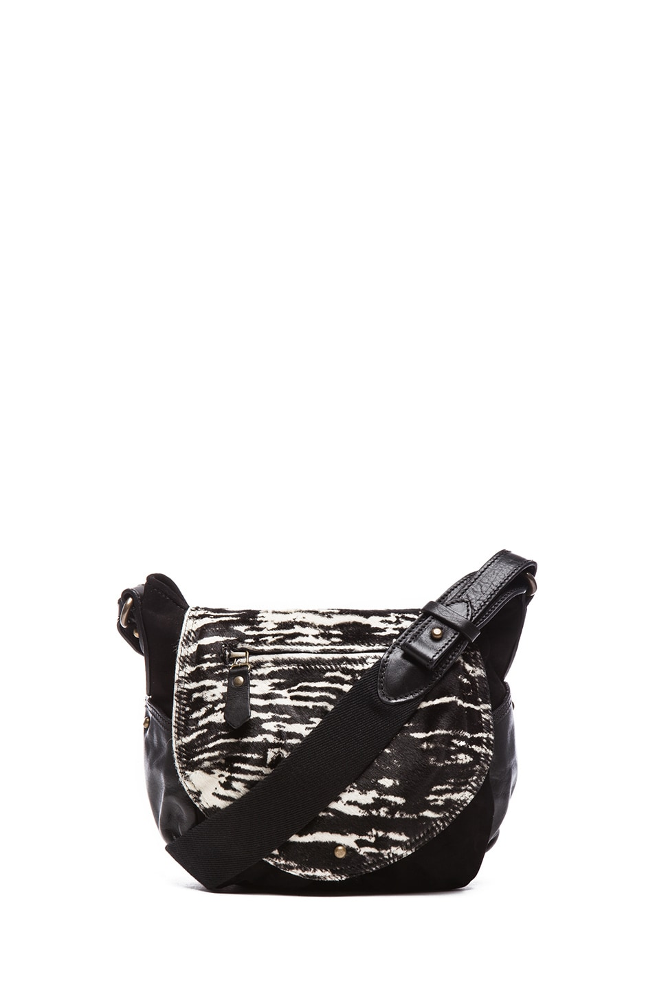 Image 1 of Isabel Marant Utkin Suede and Pony Crossbody in Anthracite