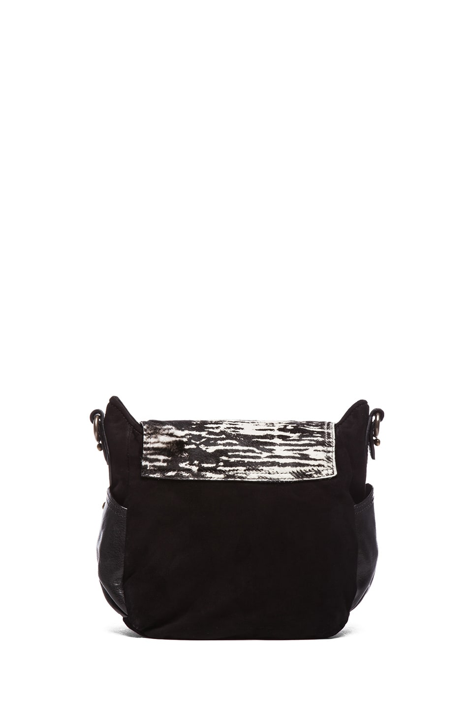 Image 2 of Isabel Marant Utkin Suede and Pony Crossbody in Anthracite