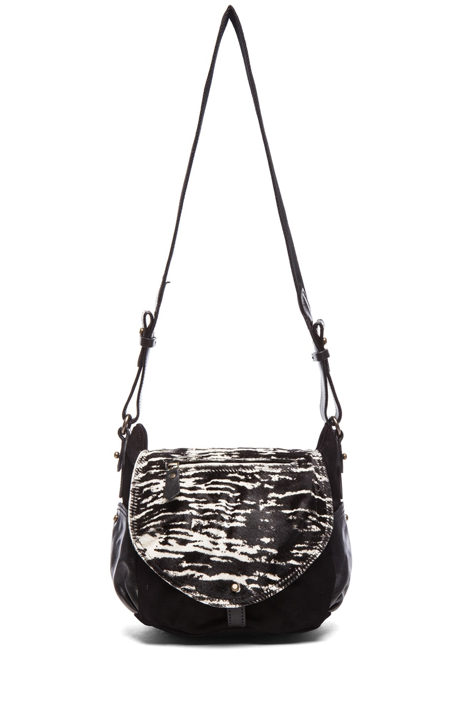 Image 5 of Isabel Marant Utkin Suede and Pony Crossbody in Anthracite
