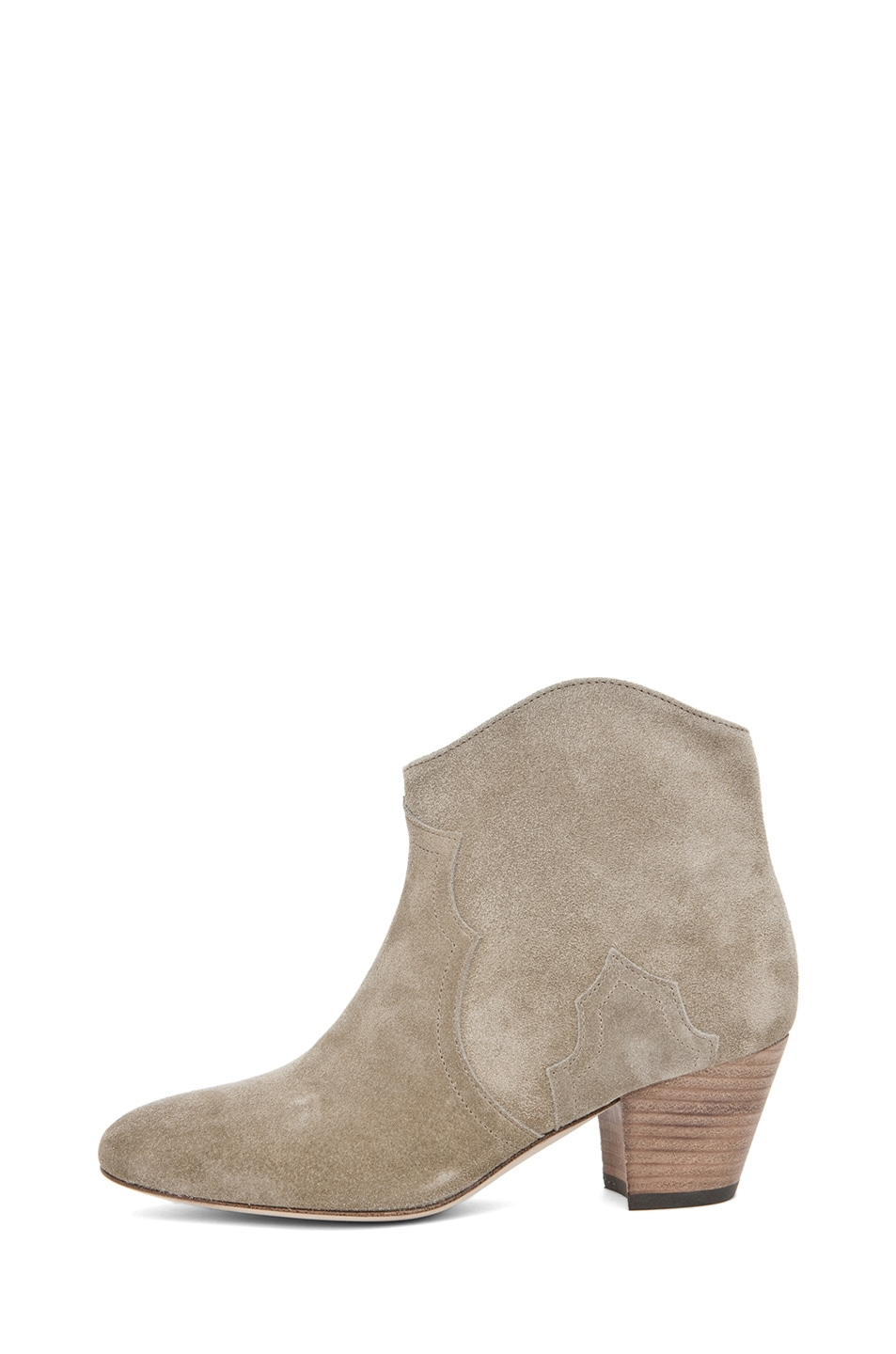 Image 1 of Isabel Marant Dicker Velvet Bootie in Gris