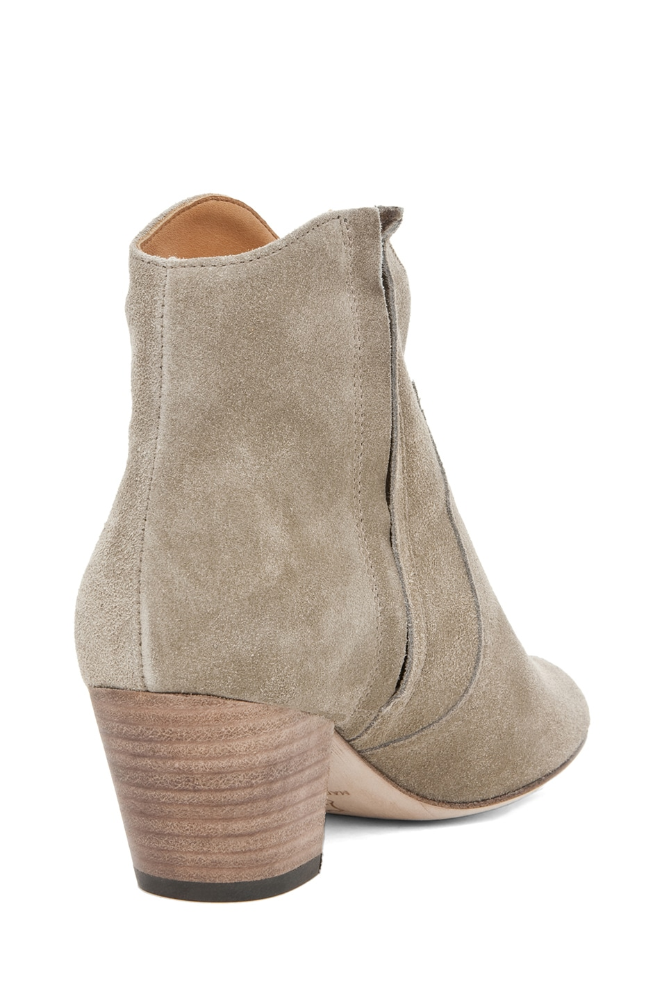 Image 3 of Isabel Marant Dicker Velvet Bootie in Gris