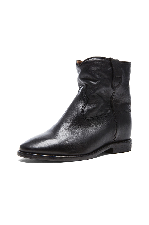 isabel marant toile cluster leather concealed wedge ankle boots. Black Bedroom Furniture Sets. Home Design Ideas