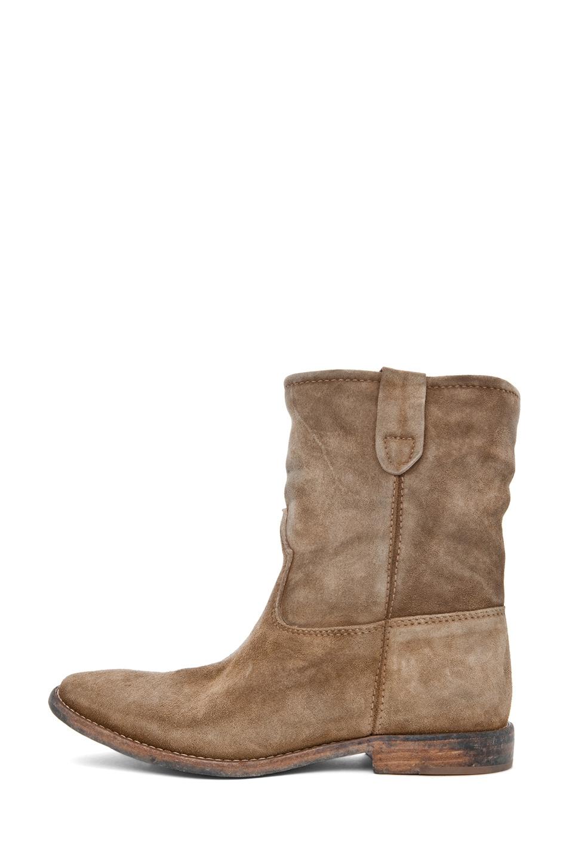 Image 1 of Isabel Marant Jenny Velvet Boot in Camel