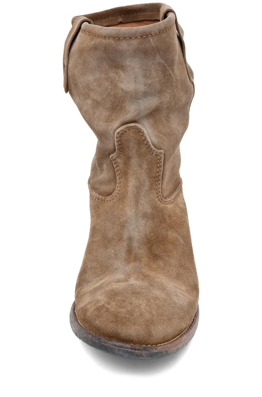 Image 4 of Isabel Marant Jenny Velvet Boot in Camel