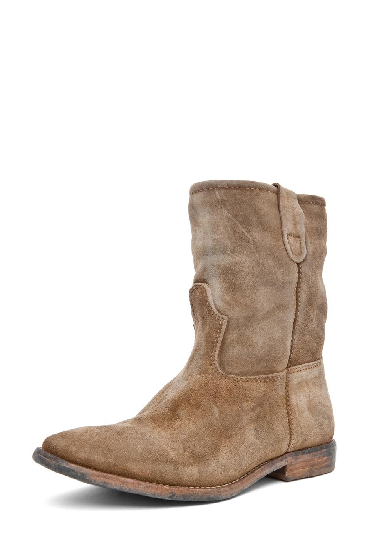 Image 5 of Isabel Marant Jenny Velvet Boot in Camel