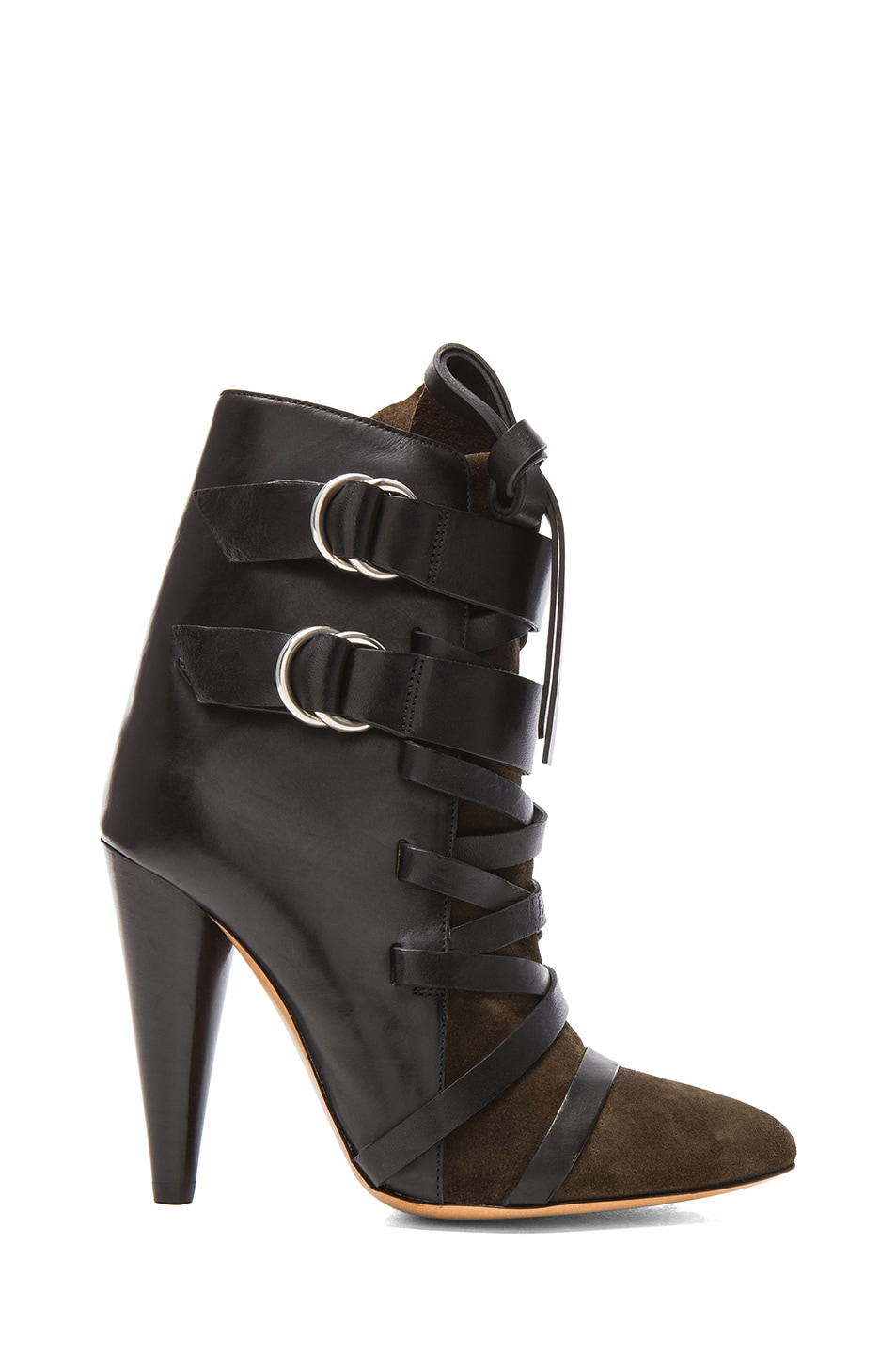 Image 1 of Isabel Marant Royston Suede Buckle Boots in Bronze