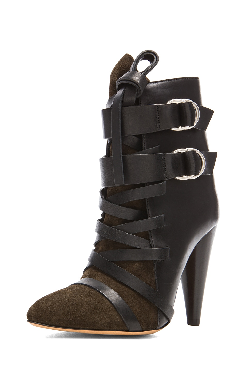 Image 2 of Isabel Marant Royston Suede Buckle Boots in Bronze