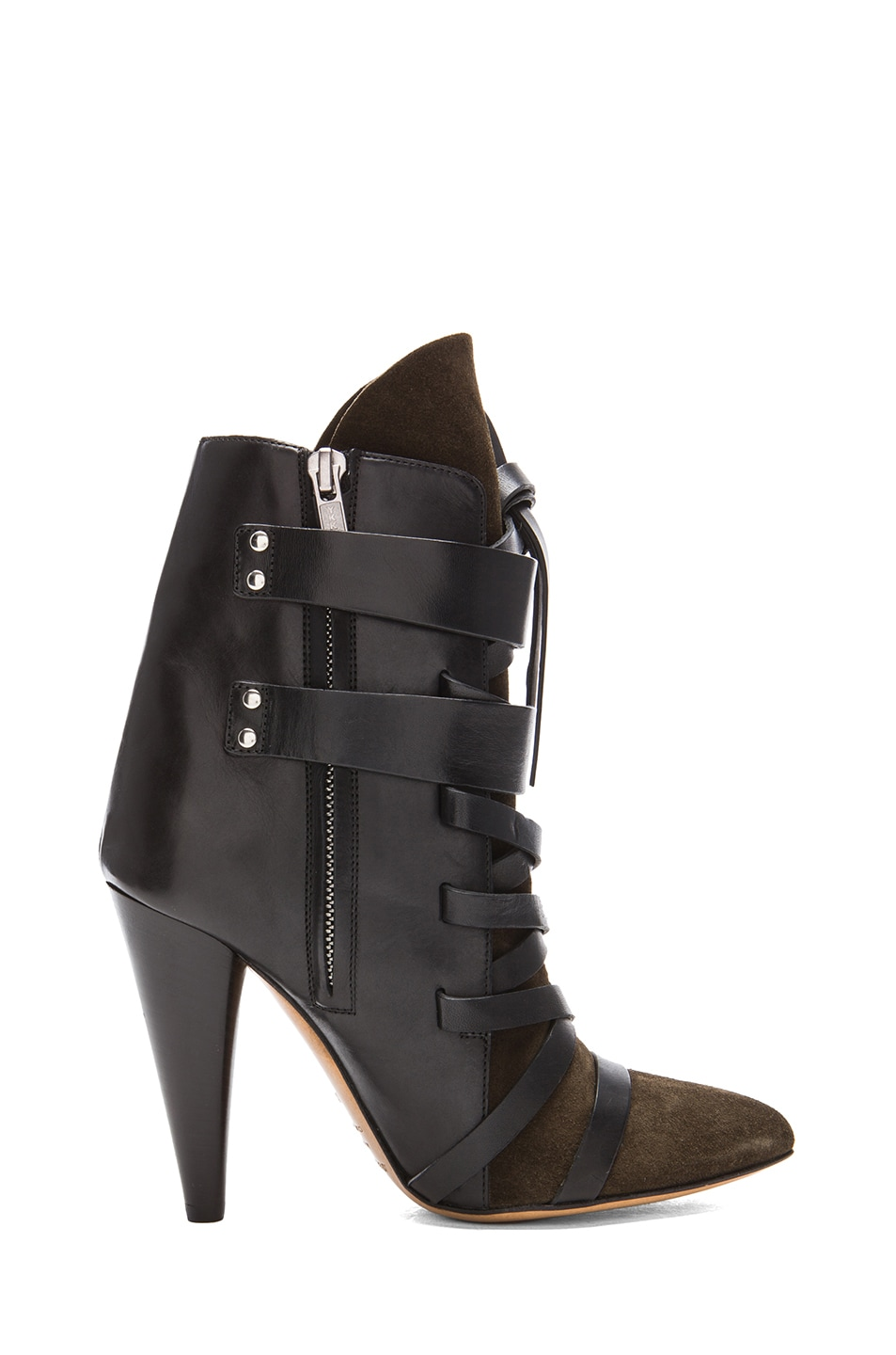 Image 5 of Isabel Marant Royston Suede Buckle Boots in Bronze