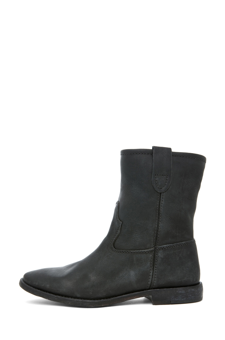 Image 1 of Isabel Marant Jenny Calfskin Leather Boot in Noir