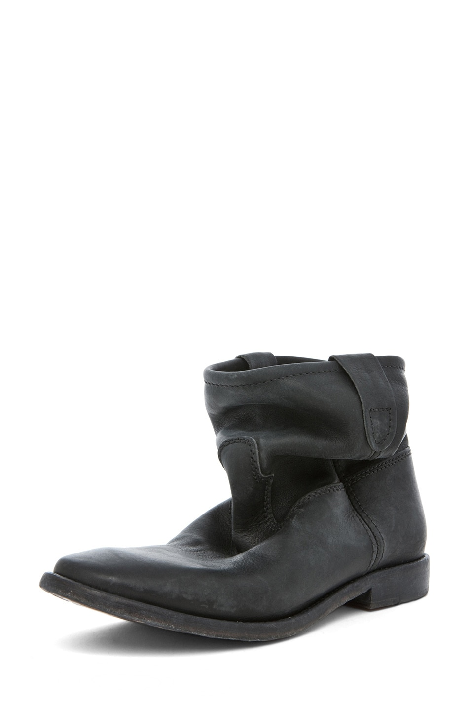 Image 2 of Isabel Marant Jenny Calfskin Leather Boot in Noir