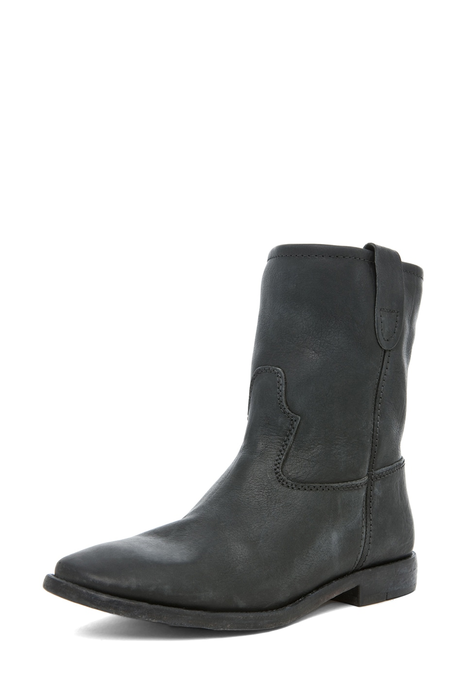 Image 5 of Isabel Marant Jenny Calfskin Leather Boot in Noir