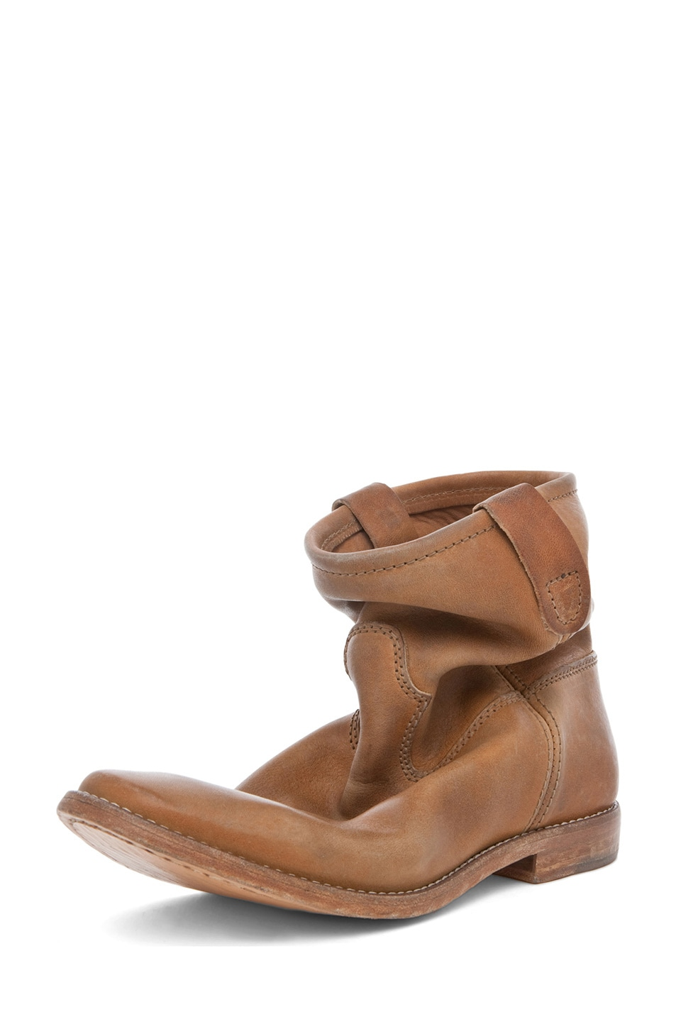 Image 2 of Isabel Marant Jenny Calfskin Leather Boots in Naturel