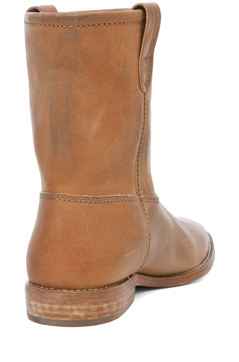 Image 3 of Isabel Marant Jenny Calfskin Leather Boots in Naturel
