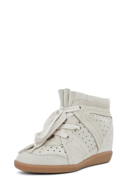 Image 2 of Isabel Marant Bobby Sneaker in Craie