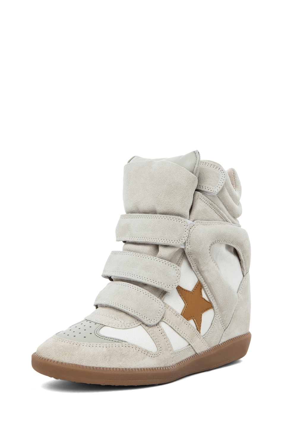 Image 2 of Isabel Marant Bayley Sneaker in Craie