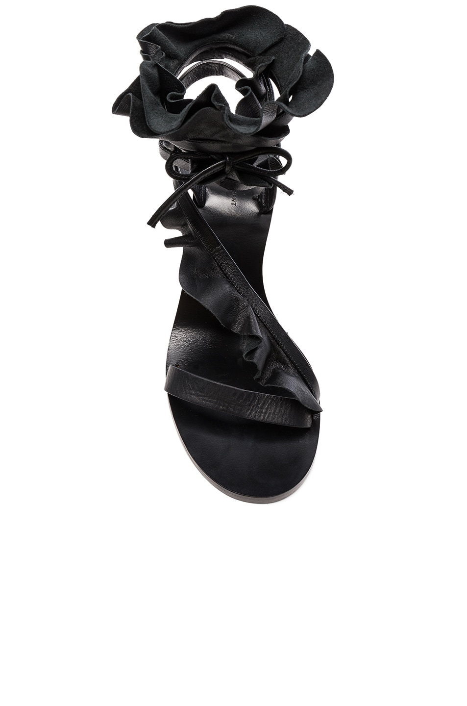 Image 4 of Isabel Marant Leather Ansel Heels in Black