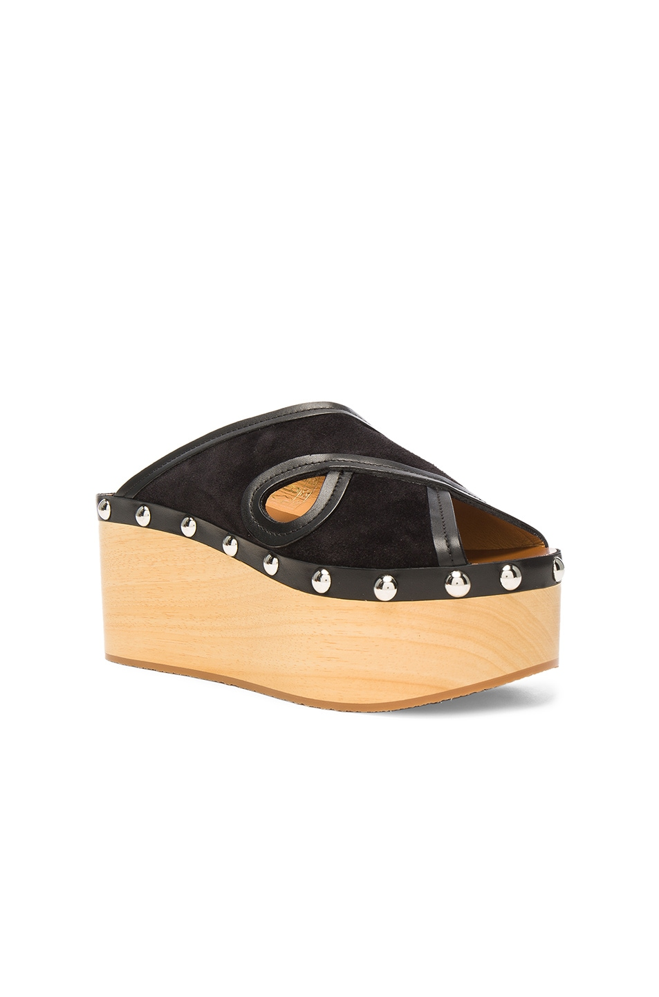 Image 2 of Isabel Marant Suede Zipla Wedge Sandals in Black