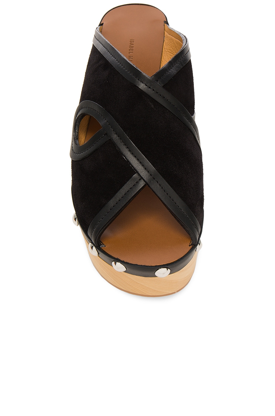 Image 4 of Isabel Marant Suede Zipla Wedge Sandals in Black