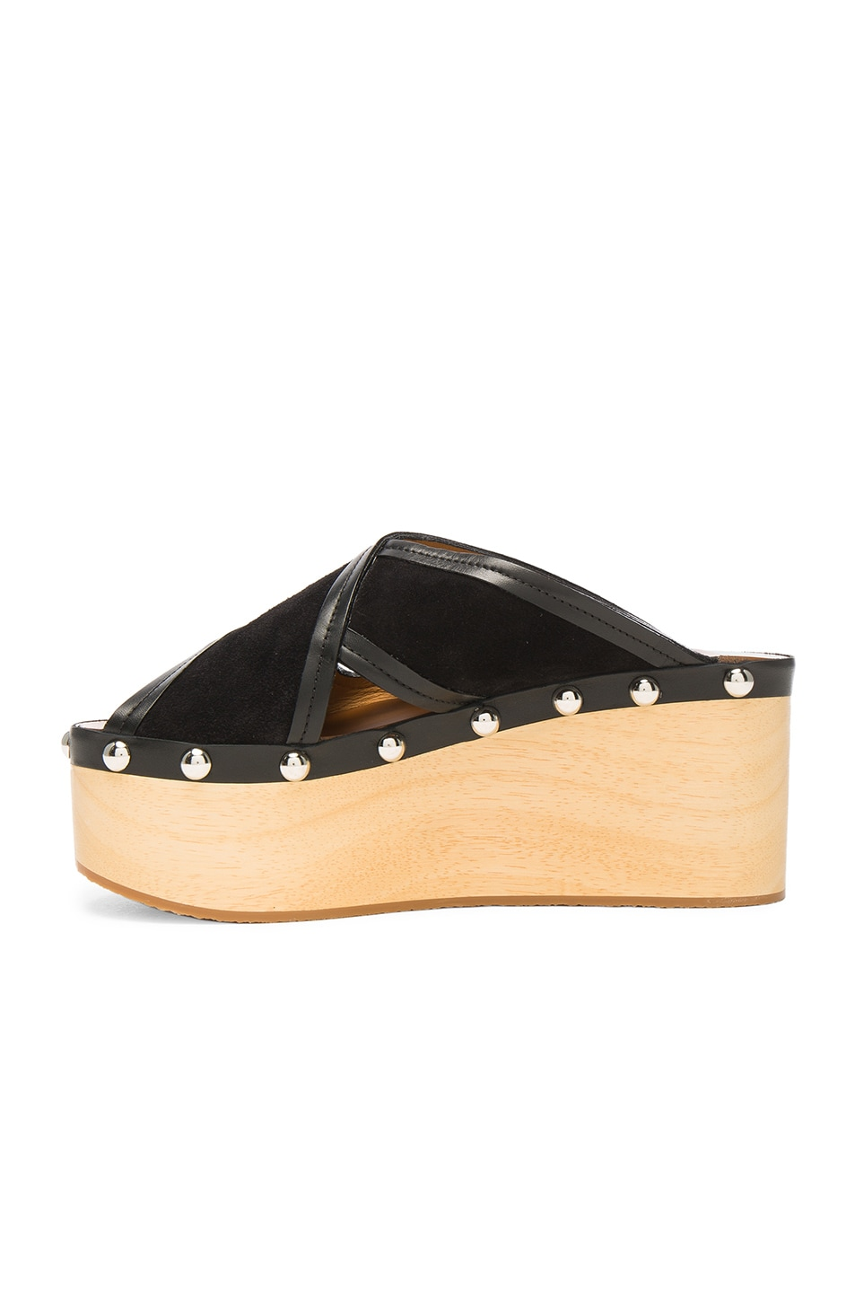 Image 5 of Isabel Marant Suede Zipla Wedge Sandals in Black