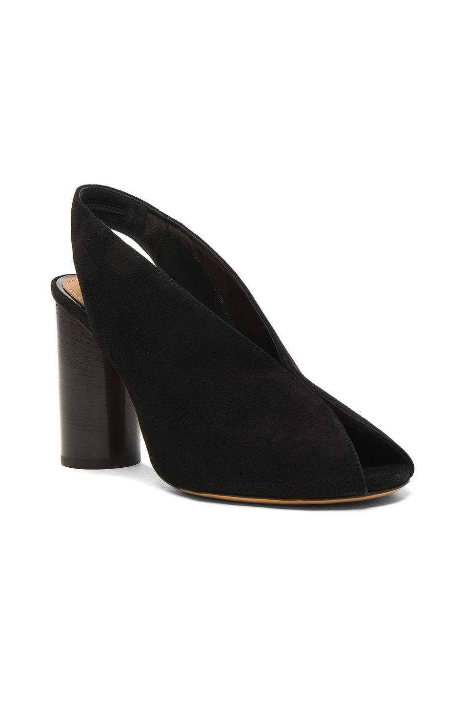 Image 2 of Isabel Marant Suede Meirid Heels in Black