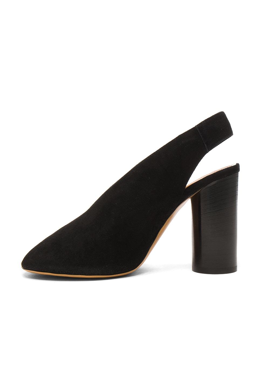Image 5 of Isabel Marant Suede Meirid Heels in Black