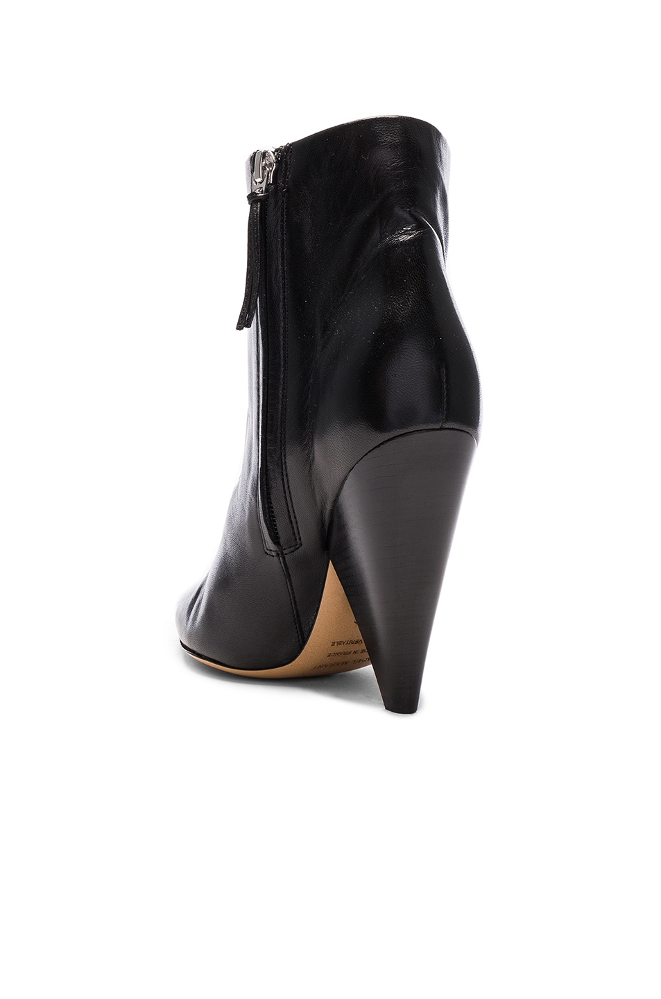 Image 3 of Isabel Marant Leather Leydoni Booties in Black