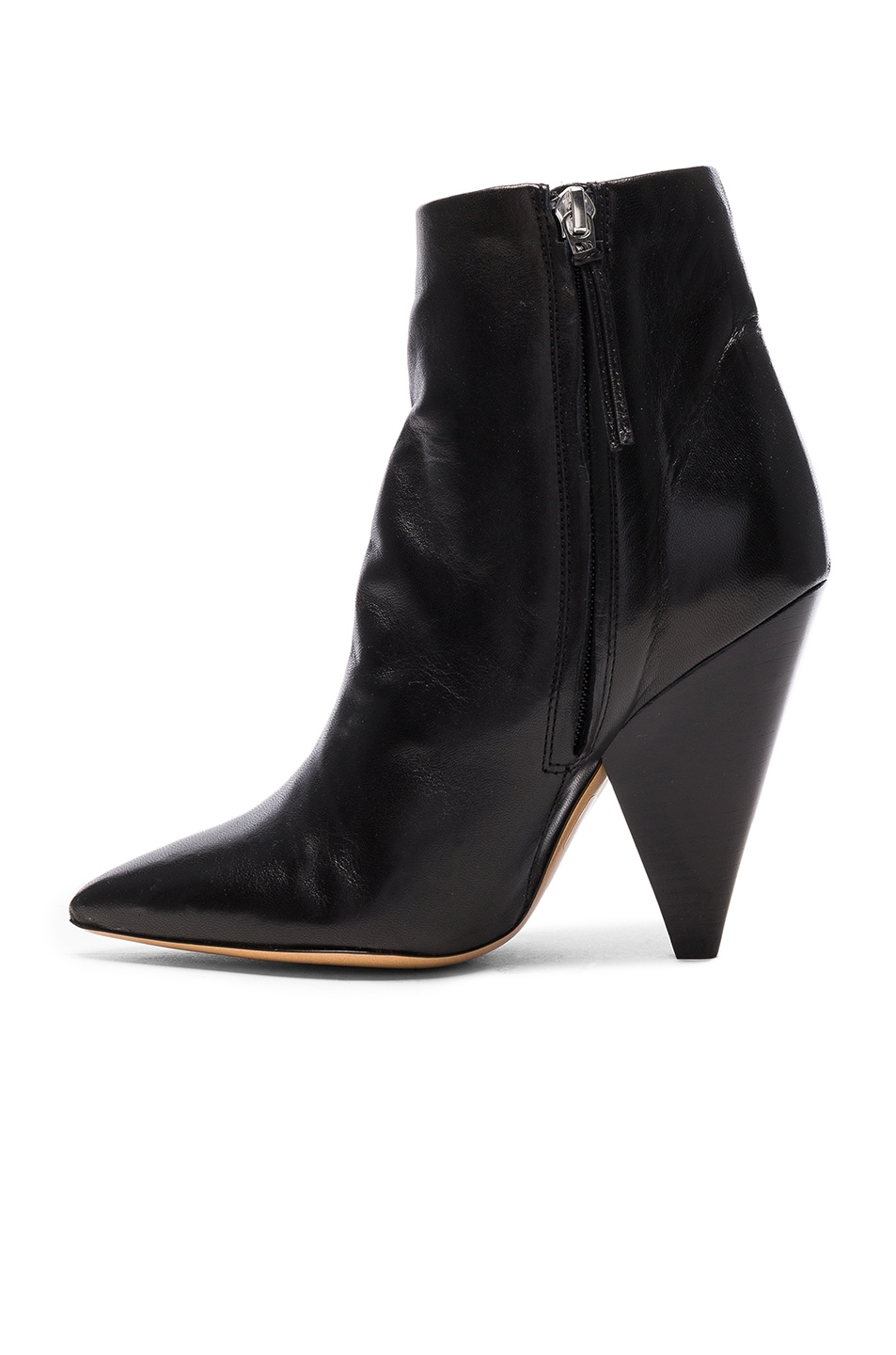 Image 5 of Isabel Marant Leather Leydoni Booties in Black