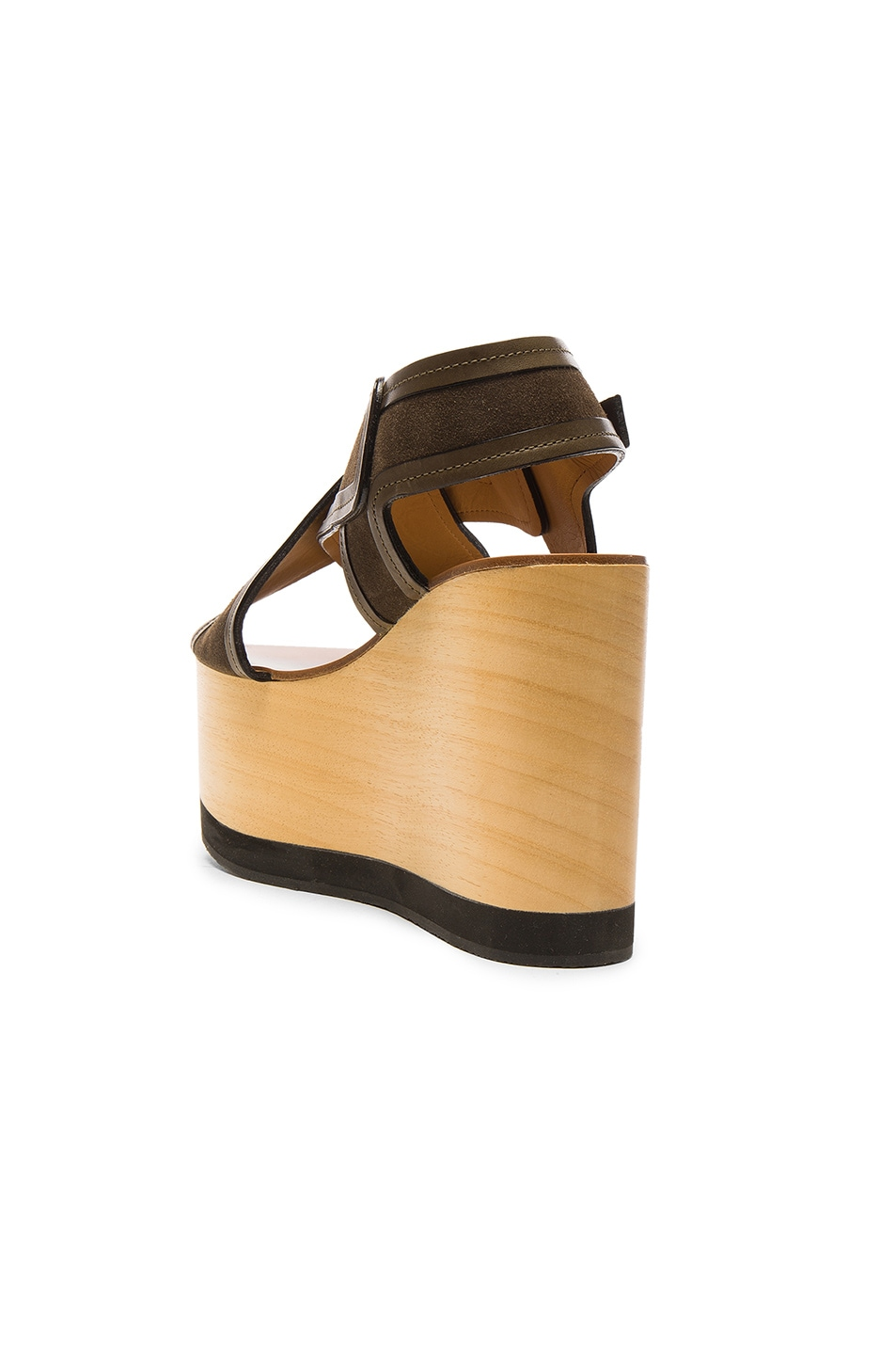Image 3 of Isabel Marant Suede Zlova Wedge Sandals in Bronze