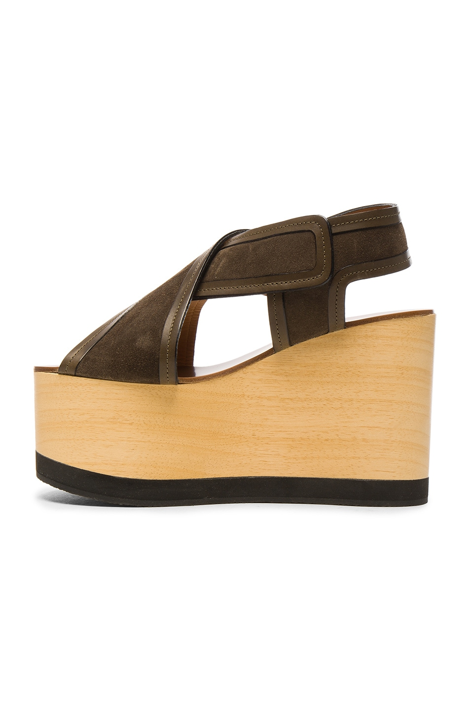 Image 5 of Isabel Marant Suede Zlova Wedge Sandals in Bronze