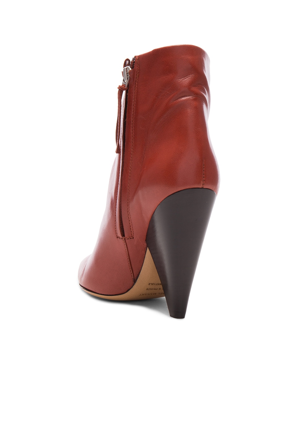 Image 3 of Isabel Marant Leather Leydoni Booties in Rust