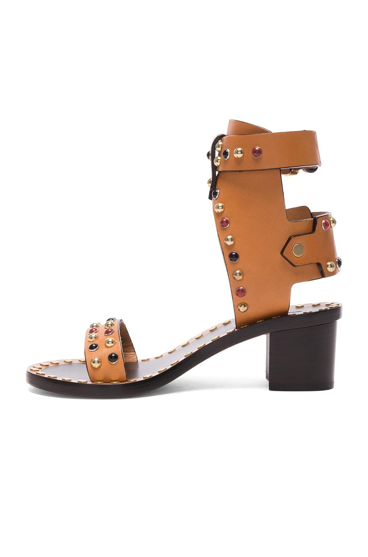 Image 5 of Isabel Marant Leather Jaeryn Sandals in Natural