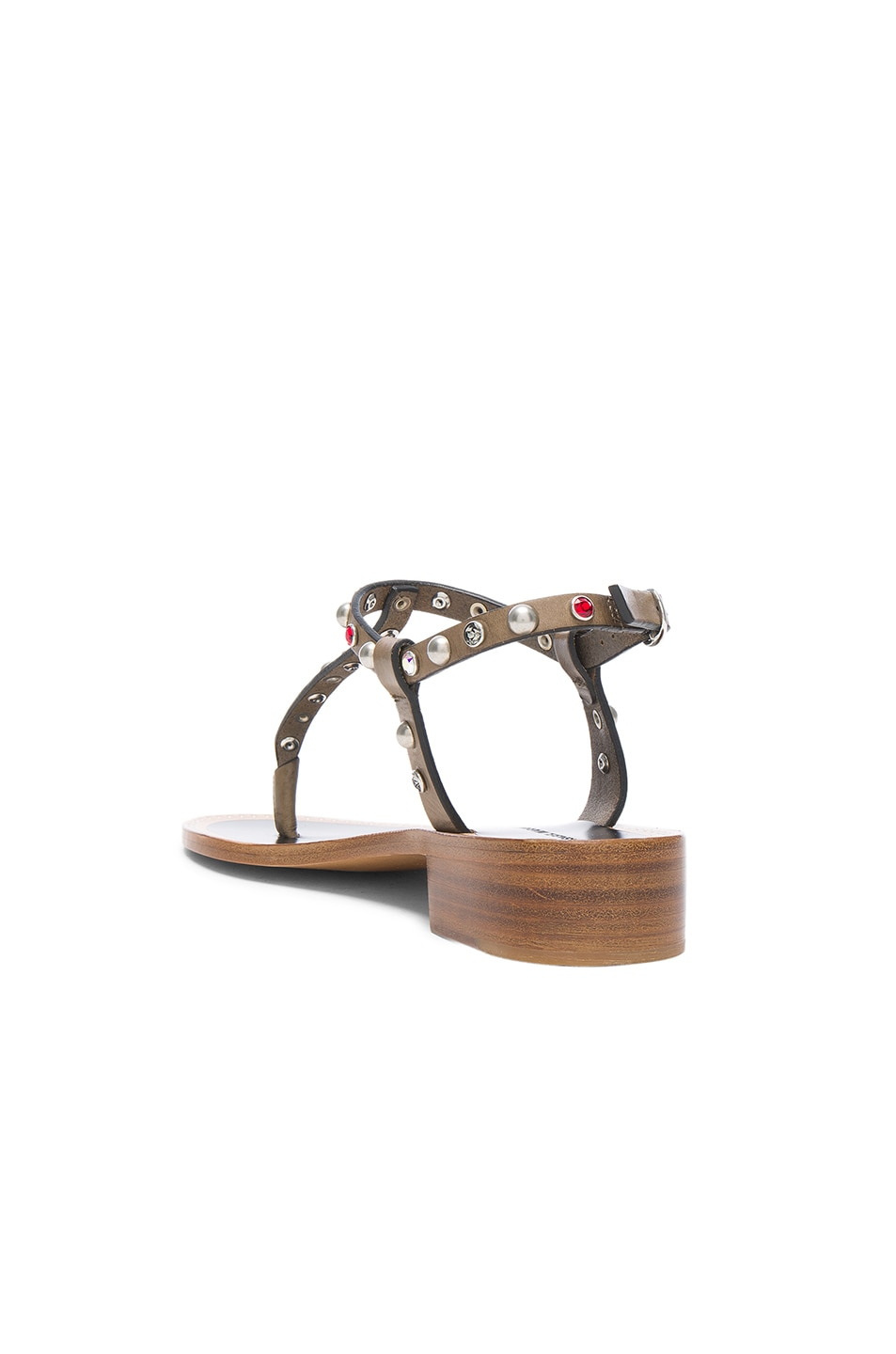 Image 3 of Isabel Marant Leather Aelith Sandals in Bronze