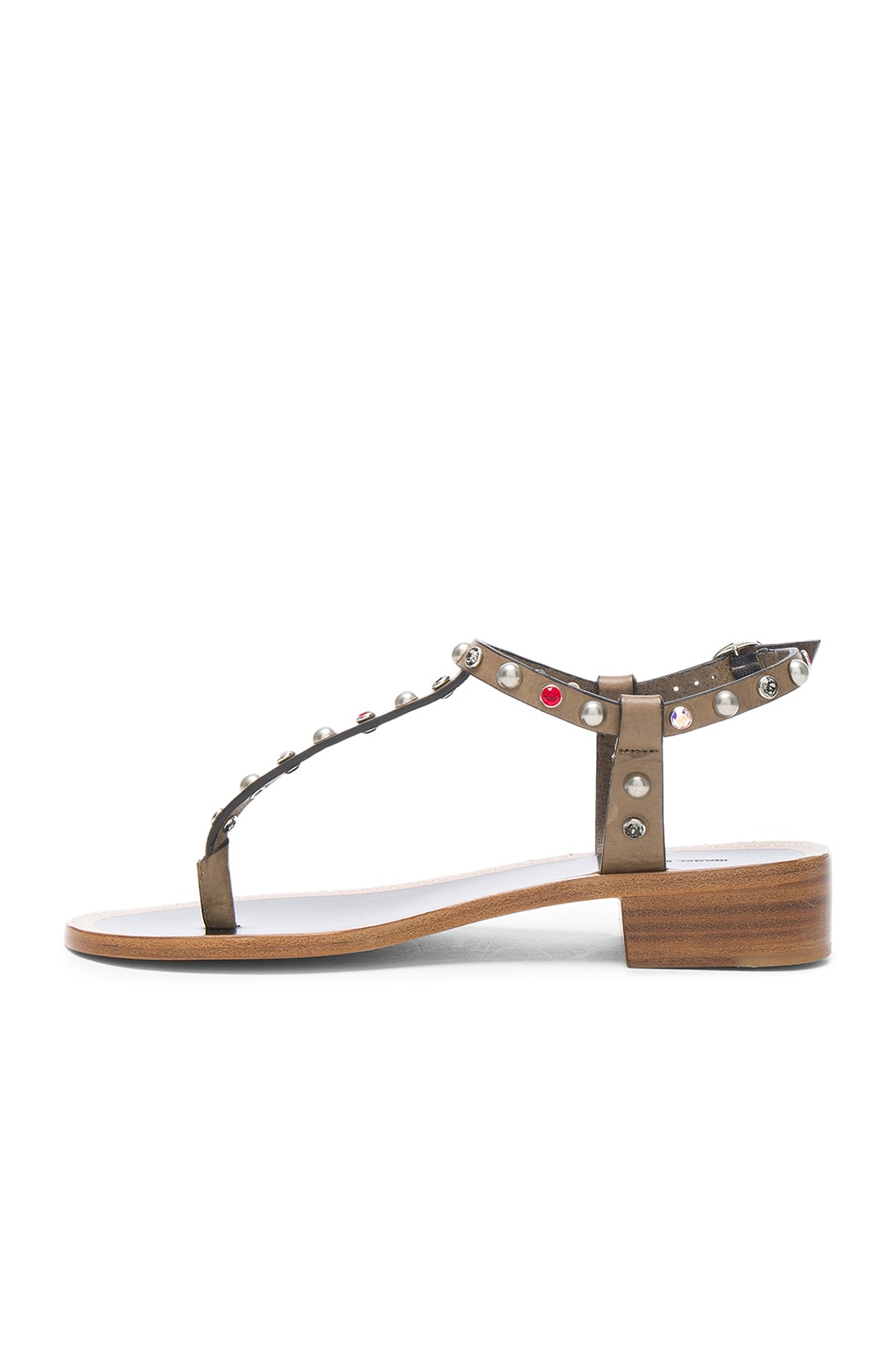 Image 5 of Isabel Marant Leather Aelith Sandals in Bronze